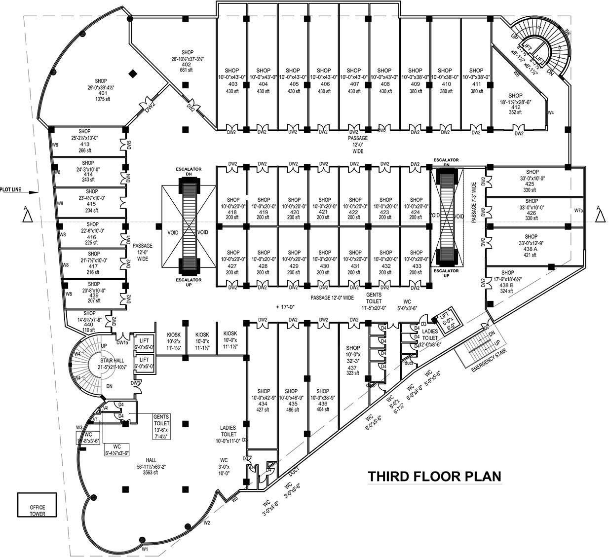 Third fourth floor details ideas real estate marketing for Real estate floor plan pricing